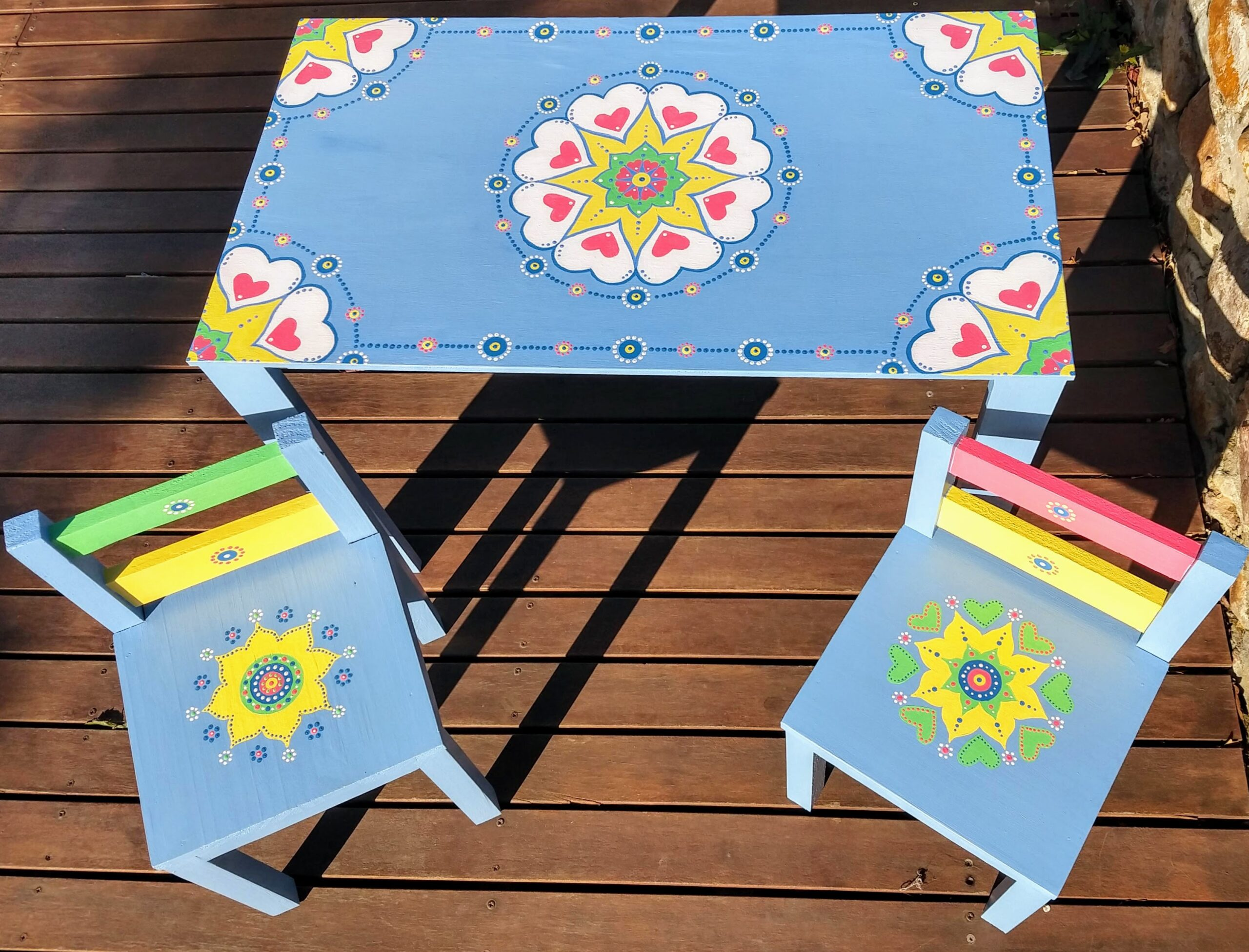 Kids Table & Chairs Set – Made to Order