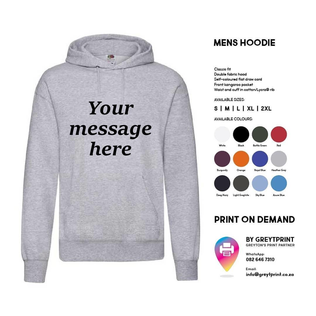 Mens Hoodie – Custom