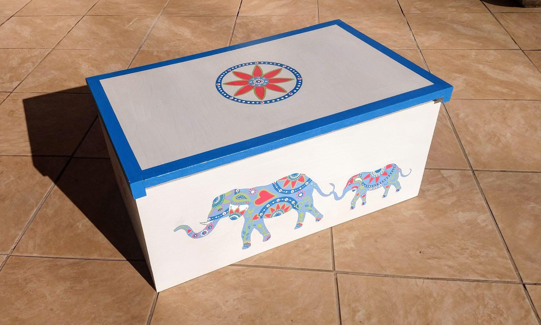 Elephant Mandala Box – In Stock