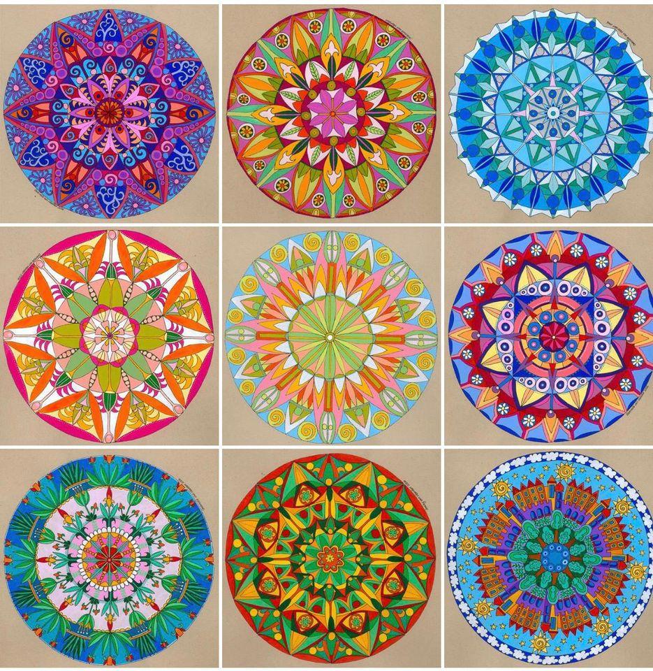 Mandala Window Stickers