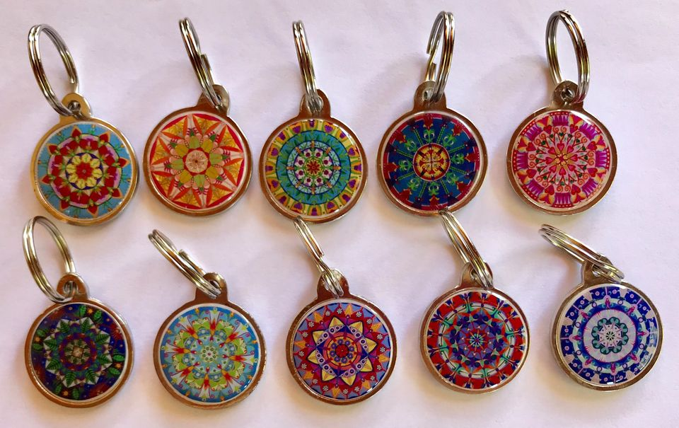 Mandala key rings