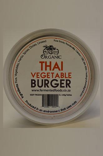 Thai Vegetable Burgers (3 x 100g) – Organic
